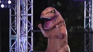 """アメリカ版""""SASUKE""""でティラノサウルスがミラクル連発!!!?"""