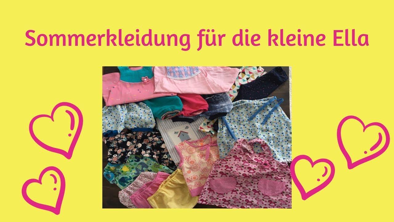 Sommerkleidung für Kinder - Ideen und Schnittmuster - YouTube