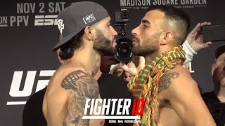 SHANE BURGOS VS. MAKWAN AMIRKHANI CEREMONIAL WEIGH-IN AND FINAL FACE OFF FOR UFC 244!