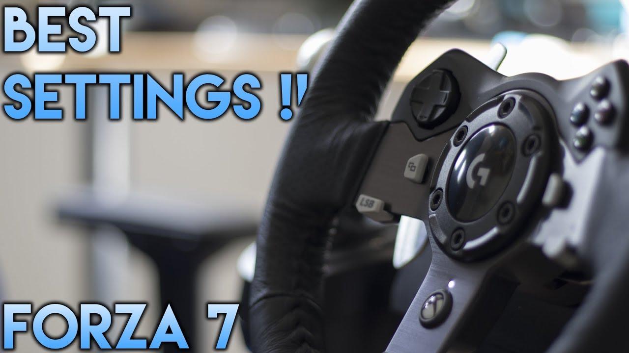 Logitech G920 Settings Forza 7 Best Settings Drift And Grip Youtube