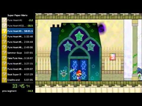 Super Paper Mario Speed Run [Single Segment] - Part 1