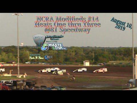 (NCRA) Modifeds #70, Heats 1-3, 81 Speedway, 08/10/19