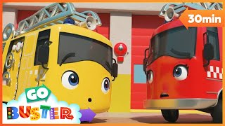 Buster the Hero Fire Truck Saves the Day | Go Buster | Baby Cartoons | Kids Videos | ABCs and 123s