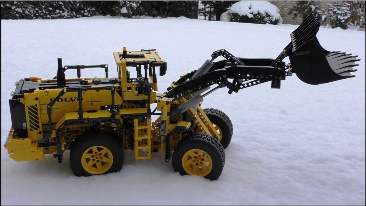 lego technic 42030 volvo l350f wheel loader rc on ice. Black Bedroom Furniture Sets. Home Design Ideas