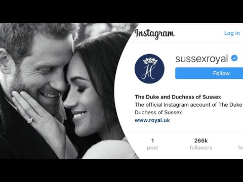 Prince Harry & Duchess Meghan Get NEW Sussex INSTAGRAM Account - SUSSEXROYAL