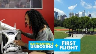 I GOT A DRONE! | DJI Phantom 4 Unboxing + First Flight