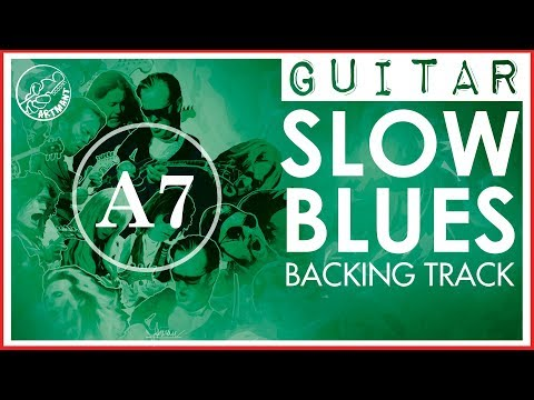 Slow Blues Backing Track in A