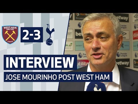 INTERVIEW | JOSE MOURINHO ON THREE POINTS AGAINST WEST HAM | West Ham 2-3 Spurs