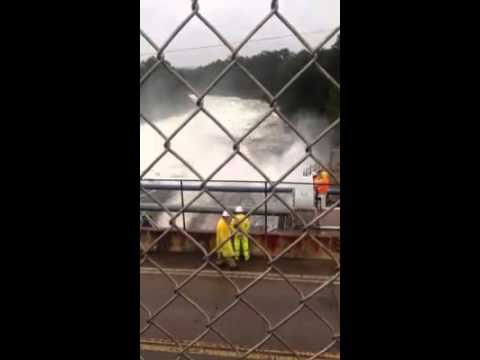 Opening the 3rd spillway at Lake Murray dam
