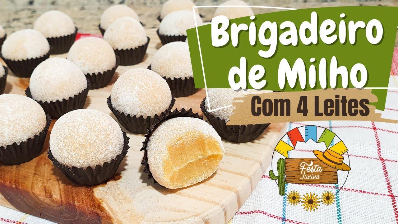 BRIGADEIRO DE MILHO COM 4 LEITES