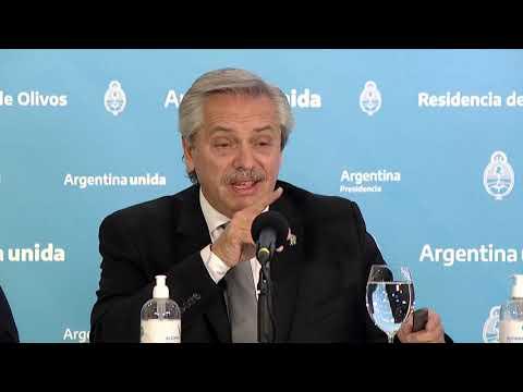 Conferencia de prensa del presidente Alberto Fernández desde Olivos 23/05/2020