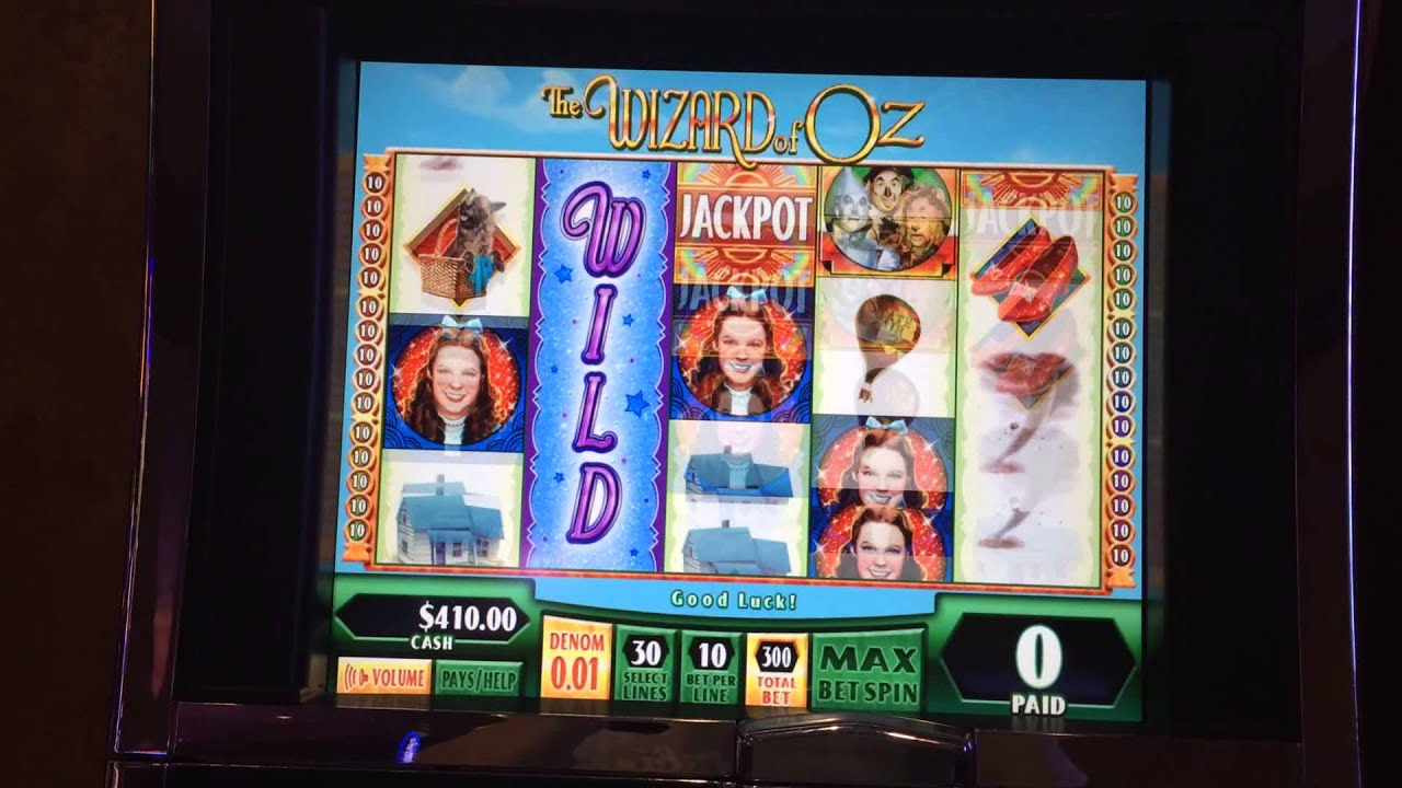 Wizard of oz slot machine foxwoods