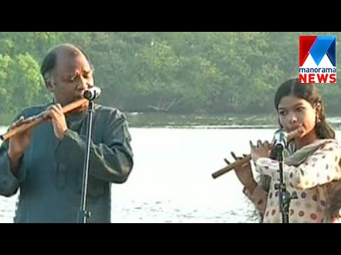 Kudamaloor Janardhanan and daughter flute performance | Sakalakalolsavam 2017  | Manorama News