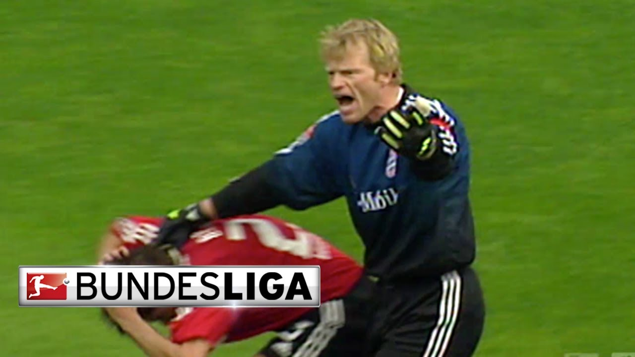 Goalkeeping Titan Oliver Kahn Brings Terror To The Pitch Youtube