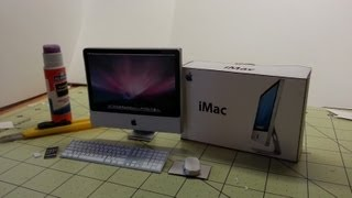 Timelapse of making a Papercraft Imac 2007