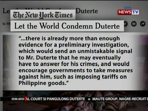 SONA: The New York Times editorial: Let the world condemn Duterte
