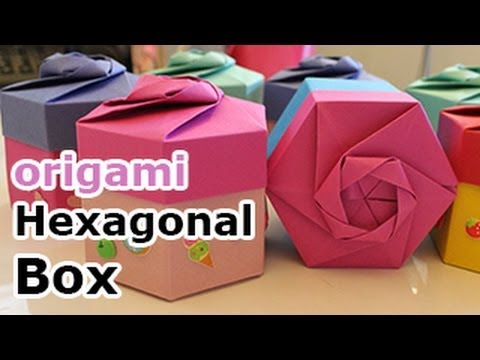 Origami Hexagonal Gift Box Tutorial (Non Modular) - DIY - Paper Kawaii