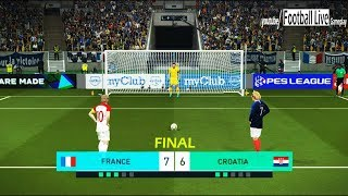 PES 2018   FRANCE vs CROATIA   Penalty Shootout   FINAL World Cup Konami   Gameplay PC