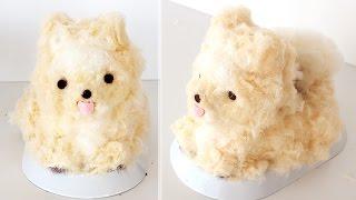 Fluffy Pomeranian Cake | ふわふわのポメラニアンのケーキ