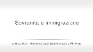"""Sovranità e immigrazione: Andrea Zhok al seminario """"Idee per ricostruire l'Italia"""""""