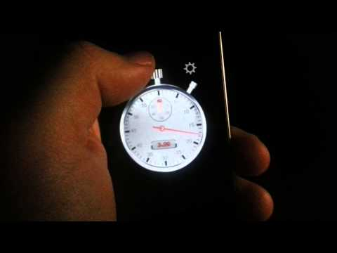 Analogue stopwatch for both iOS and Android