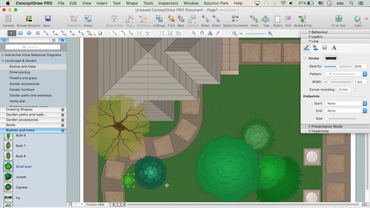 How To Draw A Landscape Design Plan Youtube