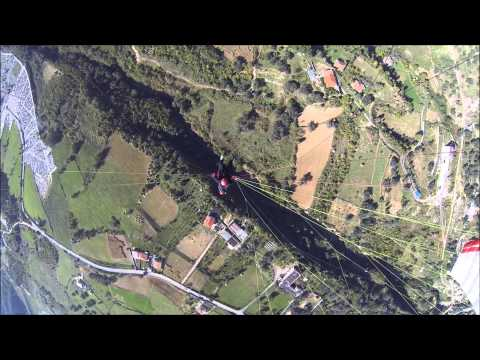 Albanian Paragliding flying over Dajti mount