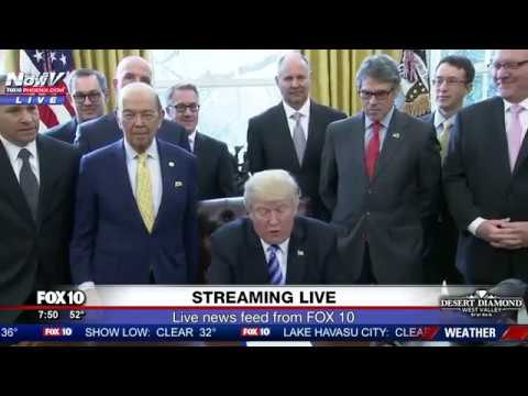 WATCH: President Trump Issues Presidential Permit For Keystone XL Pipeline FNN