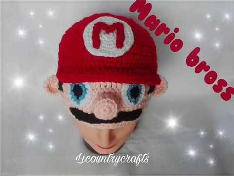 Mario Bros Gorro Tejido Mario Bros Crochet Hat Tutorial Youtube