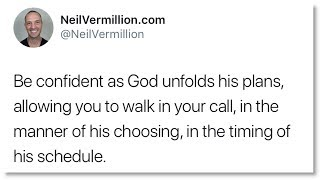 the timing of my schedule daily prophetic word