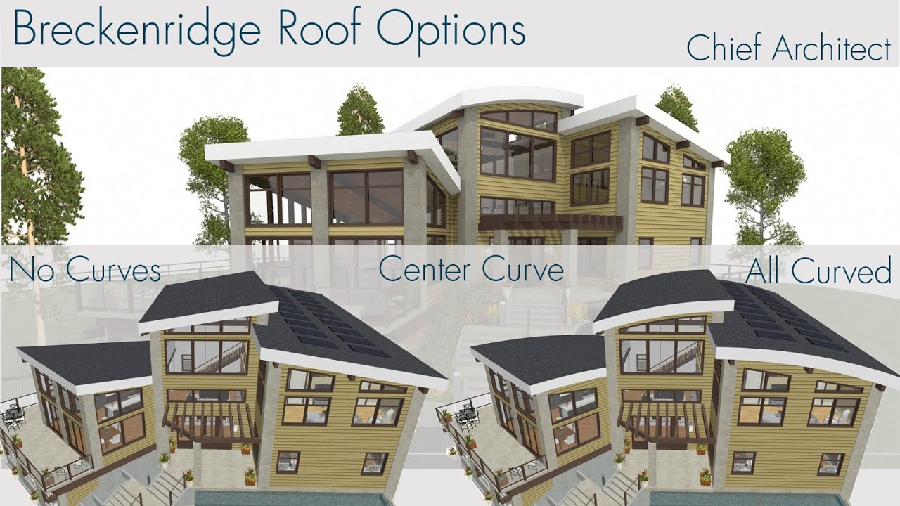 4 roof options breckenridge home design youtube for Chief architect house plans