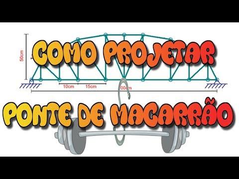 COMO CALCULAR PONTE DE MACARRÃO - FTOOL