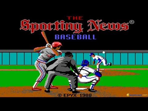 Sporting News Baseball gameplay (PC Game, 1988)