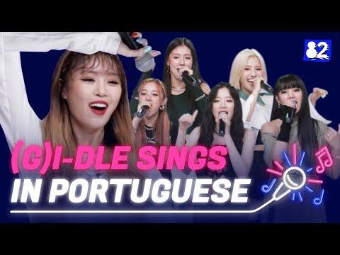 "(G)I-DLE Menyanyi ""Uh-Oh"" Dalam Bahasa Portugis | Try-lingual Live"