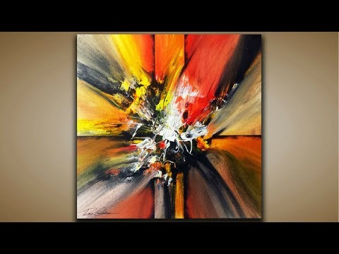 Abstract Painting / DEMO 50 / Abstract Art / Blending Acrylics / Painting Techniques