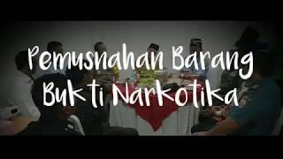 Kakanwil Hadiri Press Conference dan Pemusnahan Barang Bukti Tindak Pidana Narkotika