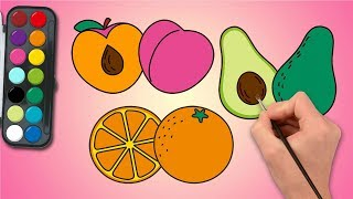 how to draw fruit | fruit slice | easy drawing | learn Coloring for Kids