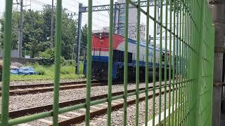 서빙고역 인근 화물열차 전진영상