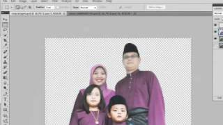 Tutorial Drag Photo In Wallpaper Using Photoshop Part 1