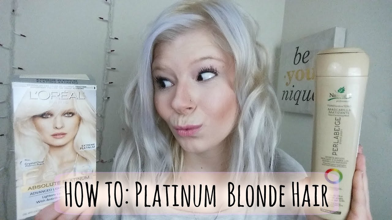 How To Platinum Blonde Hair Always Andrea YouTube