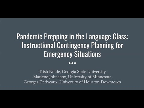 Pandemic Prepping In The Language Class