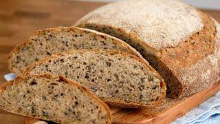 Цельнозерновой хлеб ПРОСТОЙ рецепт но вкусный хлеб Полезный домашний хлеб в духовке