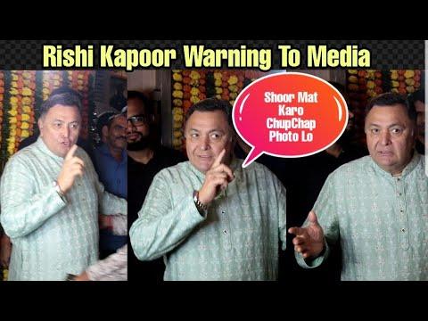 Rishi Kapoor Warns Media To Be Quiet At Ekta Kapoor Diwali Party