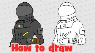 How to draw Fortnite characters - Dark Voyager