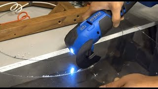 How to cut plexiglass/acrylic fast and easy with an oscillating tool (multi-tool)
