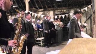 Sister Sax Wedding
