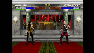 Mortal Kombat Trilogy (PSX) - Longplay as Scorpion