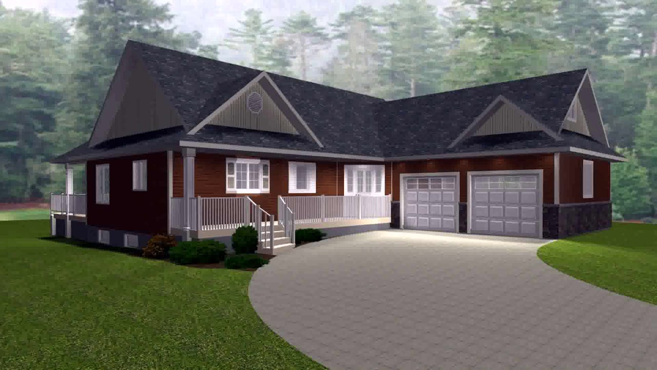 House Plans With Attached Garage In Front - YouTube