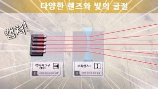 중1과학 6단원 렌즈 빛의 굴절 AR(증강현실) 실험