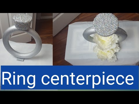 Diy|Dollar tree|Faux Diamond Ring centerpiece/Wedding centerpiece/Bridal shower centerpiece
